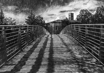 Passarella pedonale sul Velino Ph: Alberto Agostìni